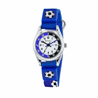 Tikkers TK0122 Boys Analogue Quartz Watch with Fabric and Canvas Strap