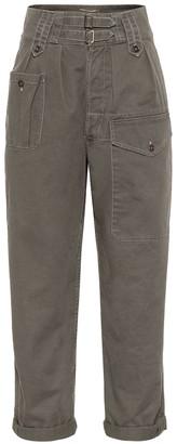 Saint Laurent High-rise cotton-blend cargo pants