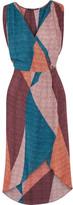 Vix Ananda Gisele Printed Voile Kaftan - Burgundy
