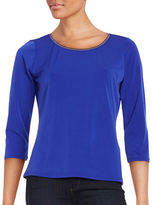 T Tahari Sumaya Knit Stretch Top