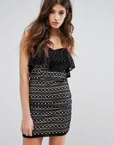 Miss Selfridge Lace Bandeau Mini Dress