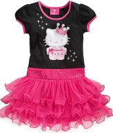 Hello Kitty Girls Dress, Little Girls Crown Tutu Dress