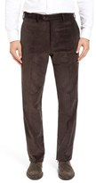 JB Britches Flat Front Stretch Corduroy Trousers