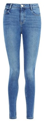 Dorothy Perkins Womens Blue 'Shape And Lift' Mid Wash Shaping Denim Jeans, Blue