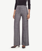 Ann Taylor Herringbone High Waist Wide Leg Pants