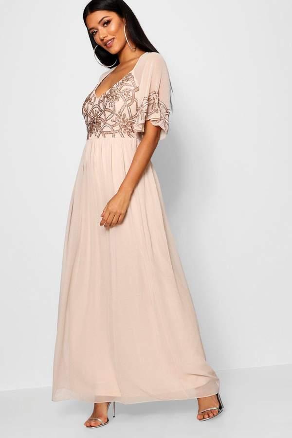 3afac6313184 Nude Embellished Maxi Dress - ShopStyle UK