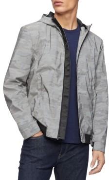 Calvin Klein Men's Reflective Camouflage Hooded Jacket
