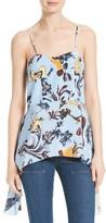Tibi Women's Gothic Floral Silk Corset Camisole