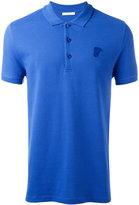 Versace logo embroidered polo shirt - men - Cotton - XL