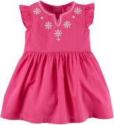 Carter's Flutter-Sleeve Pink Dress - Baby Girls newborn-24m