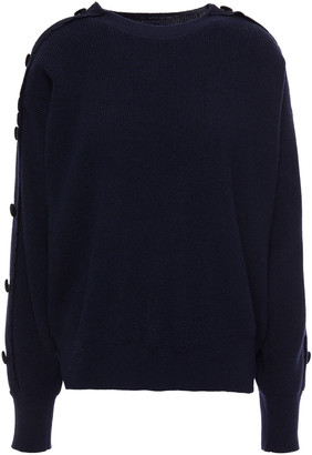 Sandro Button-embellished Wool And Cashmere-blend Cardigan