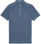 J.Crew Slim-fit Garment-dyed Slub Cotton-jersey Polo Shirt - Navy