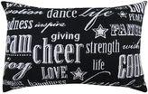 B. Smith Park ''Cheer'' Black Throw Pillow