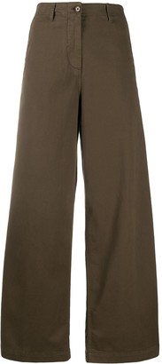 Aspesi High Waisted Wide-Leg Trousers