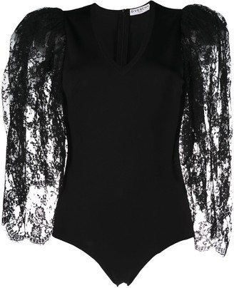Givenchy Lace Puff-Sleeve Body