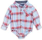 Andy & Evan Boys' Plaid Flannel Shirtzie Bodysuit