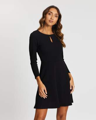 Dorothy Perkins Keyhole Fit-and-Flare Dress
