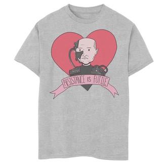 Licensed Character Boys 8-20 Star Trek Next Generation Valentine's Day Resist Graphic Tee