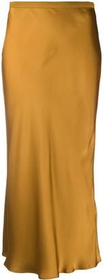 Anine Bing High-Waisted Silk Skirt
