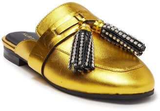 KG by Kurt Geiger Kaiser Crystal Tassel Loafer Mule