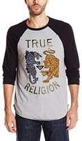 True Religion Men's Panther Vs Tiger Embroidered T-Shirt