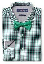 Graham & Graham Men's Gingham Dress Shirt & Polka Dot Bow Tie Set Green - Graham & Graham