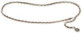 Chanel Vintage Silver & Leather Medallion Belt