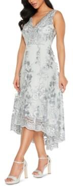 Quiz Embroidered Lace-Hem Dress