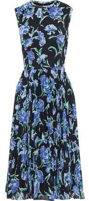 Jason Wu Pleated Floral-print Georgette Dress