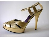 Roberto Cavalli pristine (PR Leather Platform Sandals sz 41