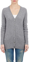 Barneys New York WOMEN'S CASHMERE V-NECK CARDIGAN-GREY SIZE M