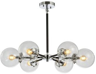 Jonathan Y Designs Caleb 6-Light 28In Brass Cluster Pendant