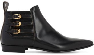 Gucci 20mm Pointed Leather Boots
