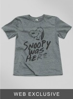 Junk Food Clothing Toddler Boys Snoopy Was Here Tee-steel-4t