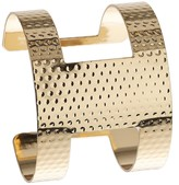 Apricot Gold Textured Cut Out Cuff Bracelet