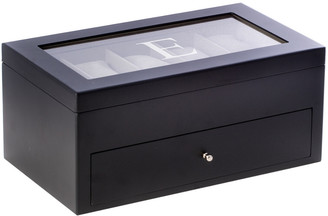 Bey-Berk Matte Black Wood 20 Watch Box