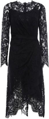 Dolce & Gabbana Gathered Lace Midi Dress