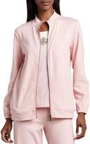 Joan Vass Interlock Zip Jacket