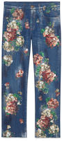 Gucci Painted cropped denim pant