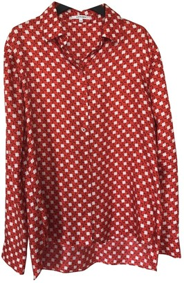 Carven Red Silk Top for Women