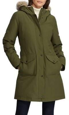 Lauren Ralph Lauren Faux Fur-Trim Down-Filled Coat