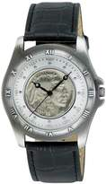 August Steiner Men's CN002S-AS Round Buffalo Nickel Collectors Gold Coin Watch