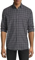 Neiman Marcus Plaid Flannel Sport Shirt
