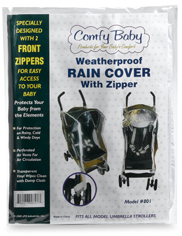 Weatherproof Comfy Baby Stroller Rain Cover with Zipper