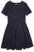 Un Deux Trois Girl's Jacquard Fit-&-Flare Dress