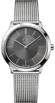 Calvin Klein Mens Swiss Minimal Stainless Steel Bracelet Watch