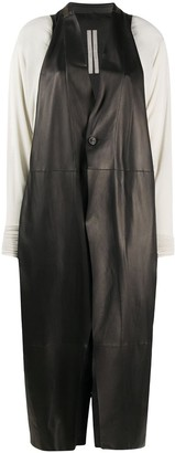 Rick Owens Combined Leather Coat