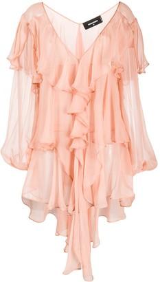 DSQUARED2 Ruffled Mini Dress
