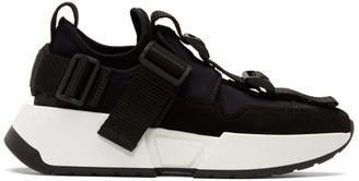 MM6 MAISON MARGIELA SSENSE Exclusive Black Safety Strap Platform Sneakers