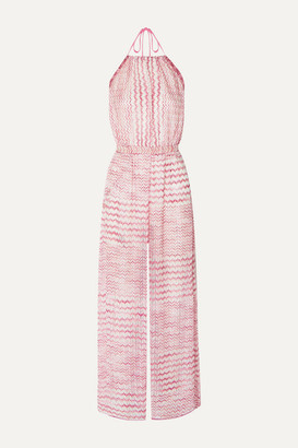 Missoni Open-back Crochet Halterneck Jumpsuit - Pink